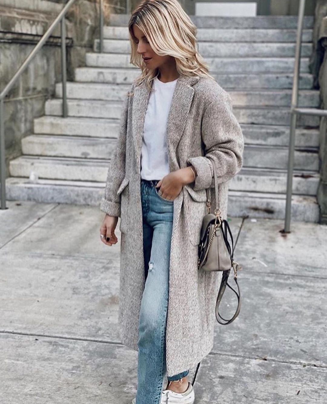 A Grey Coat is a Fall/Winter Style Essential