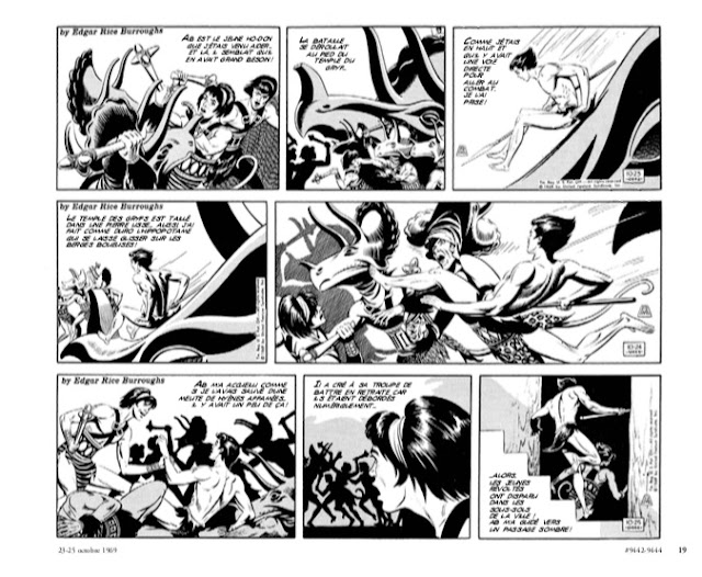Tarzan : Intégrale Russ Manning Newspaper strips Volume Deux : 1969 - 1971 éditions Graph Zeppelin Page 19