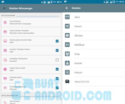 Download BBM Mod iMessenger V6 Versi 3.0.0.18 Apk Terbaru