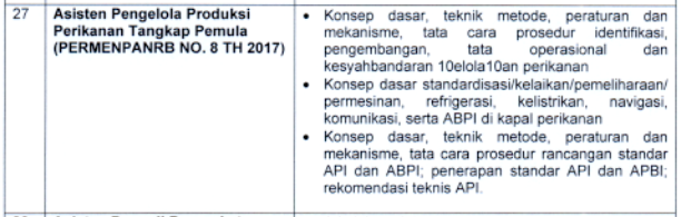 kisi kisi materi skb Asisten Pengelola Produksi Perikanan Tangkap Pemula  formasi cpns tahun 2021 tomatalikuang.com