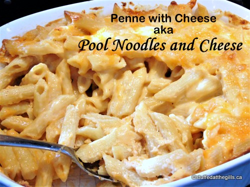 Penne with Cheese Sauce aka. . .Pool Noodles and Cheese