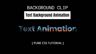 Simple Background Clip Text animation