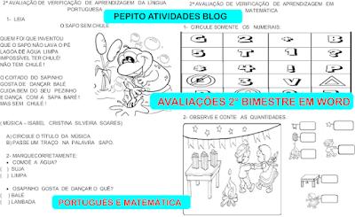 Provinhas para turmas de alfabetização de Português e Matemática
