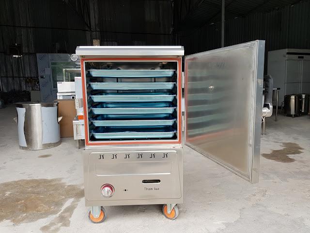 Tủ nấu cơm 6 khay gas điện