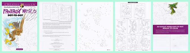 fantasy world, puzzel kleurboek