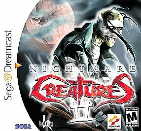 Nightmare Creatures II Sega Dreamcast horror game cover art