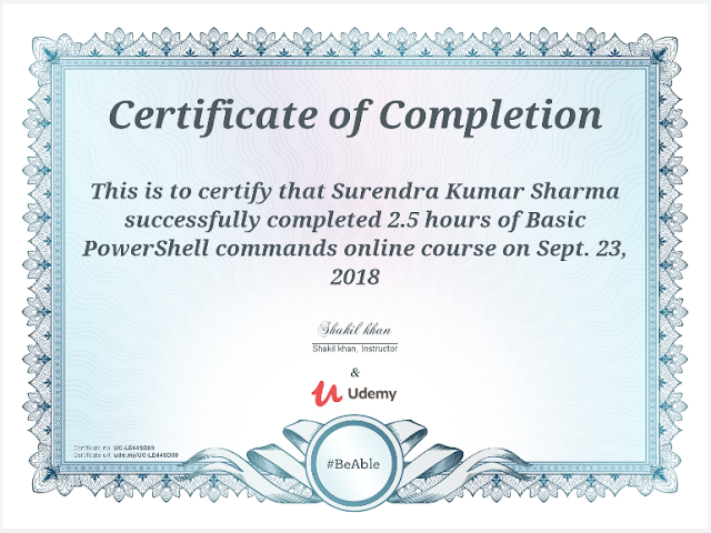 Basic PowerShell Commands certificate