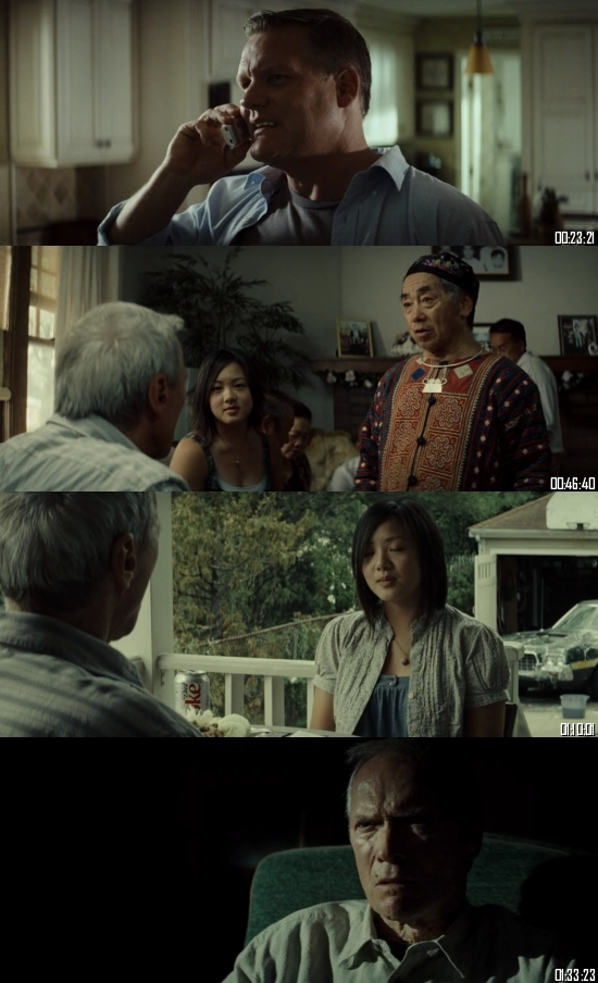 Gran Torino 2008 BRRip 720p 480p Dual Audio Hindi English Full Movie Download