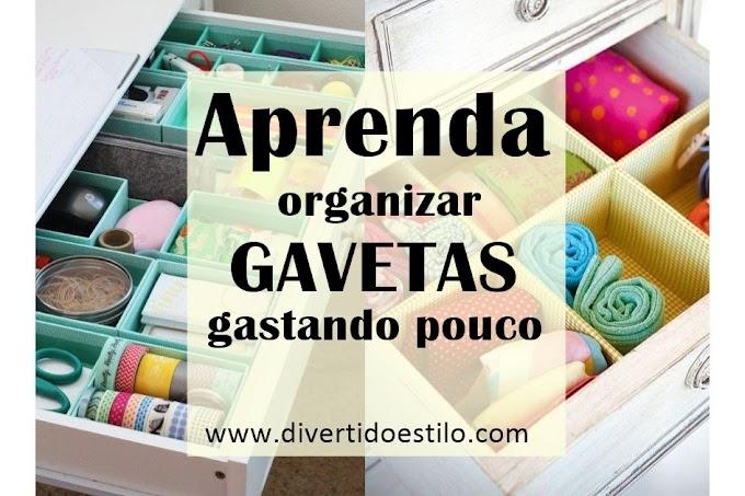 Dicas para organizar gavetas