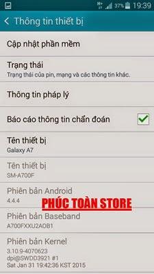 Tiếng Việt Samsung A700F alt