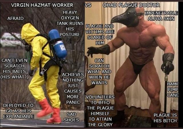 MEME UPDATE: CHAD PLAGUE DOCTOR VS VIRGIN HAZMAT WORKER
