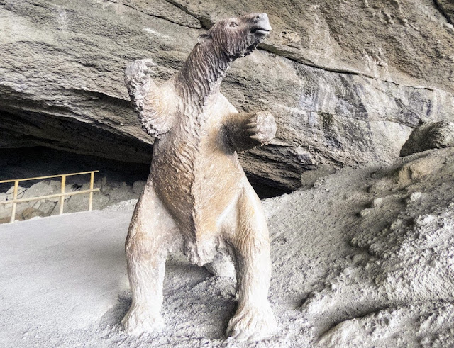 Birding Patagonia: Mylodon statue outside the Mylodon cave near Puerto Natales Chile