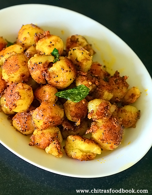 Baby potato roast / small potato fry recipe