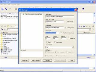 واجهة برنامج Core FTP