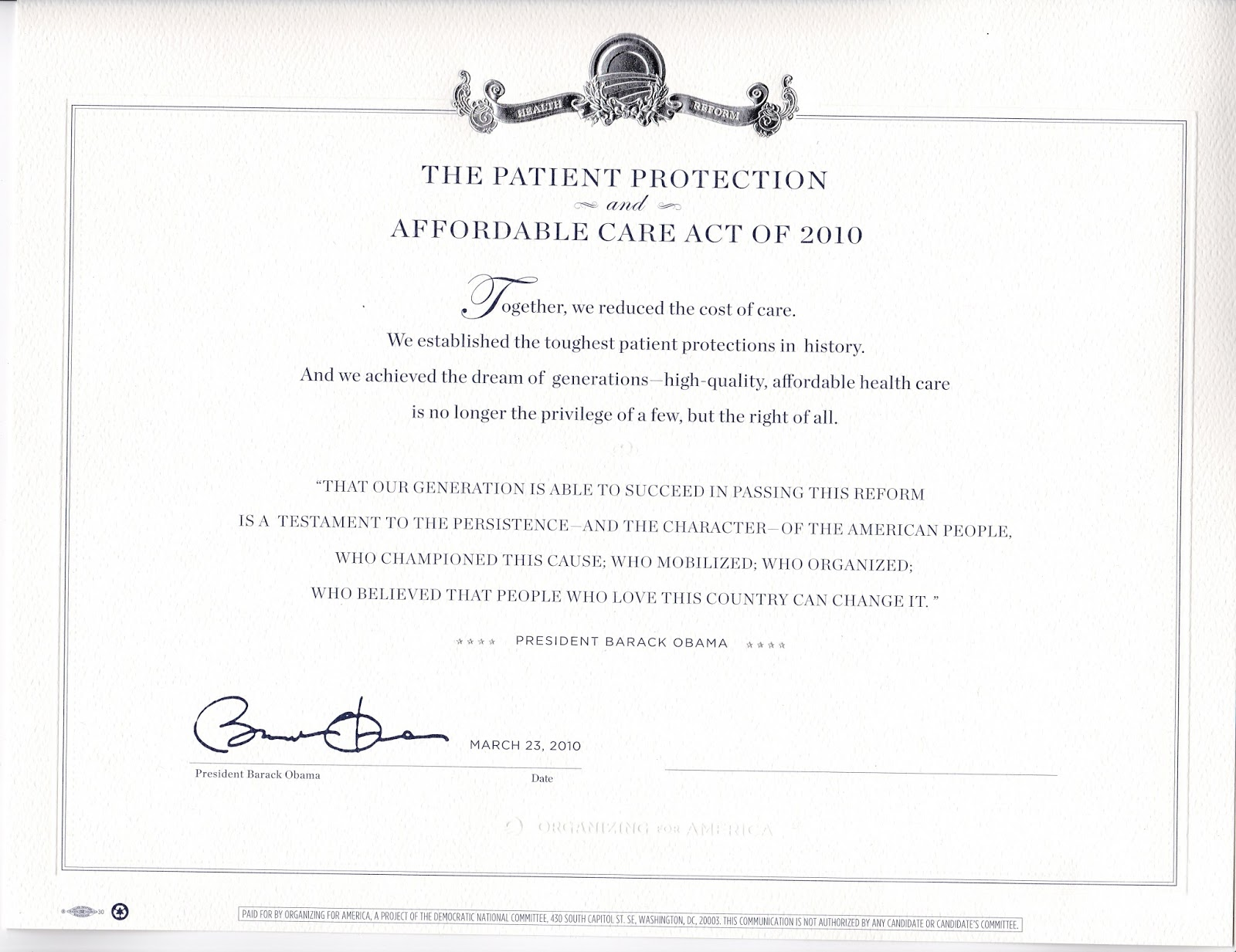 Busters blog march 2016 for my efforts in championing the cause i received the genuine mass produced signature stamped presidential certificate of appreciation shown here 1betcityfo Image collections