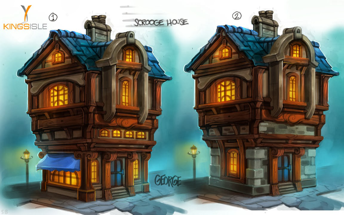 Pirate101 Marleybone Concept Art Scrooge's House