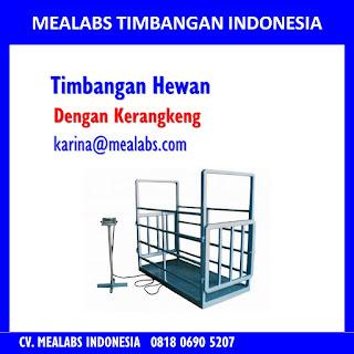 Jual Timbangan Hewan atau animal scale dengan kerangkeng mealabs timbangan indonesia