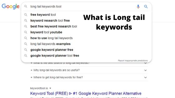 what is long tail keywords?
