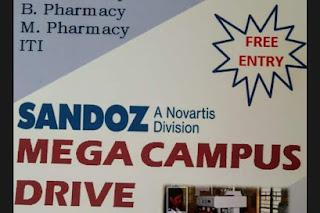 Campus drive @ Sandoz on 30 January- Don't miss it.