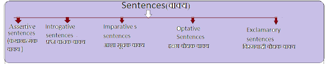What is sentence in hindi