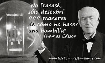 Resultado de imagen de Frases de Edison