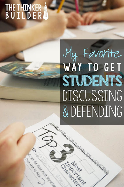 Read about a unique yet versatile way to engage students in discussion, where they develop and defend their opinions and analyze each others'. (from The Thinker Builder)