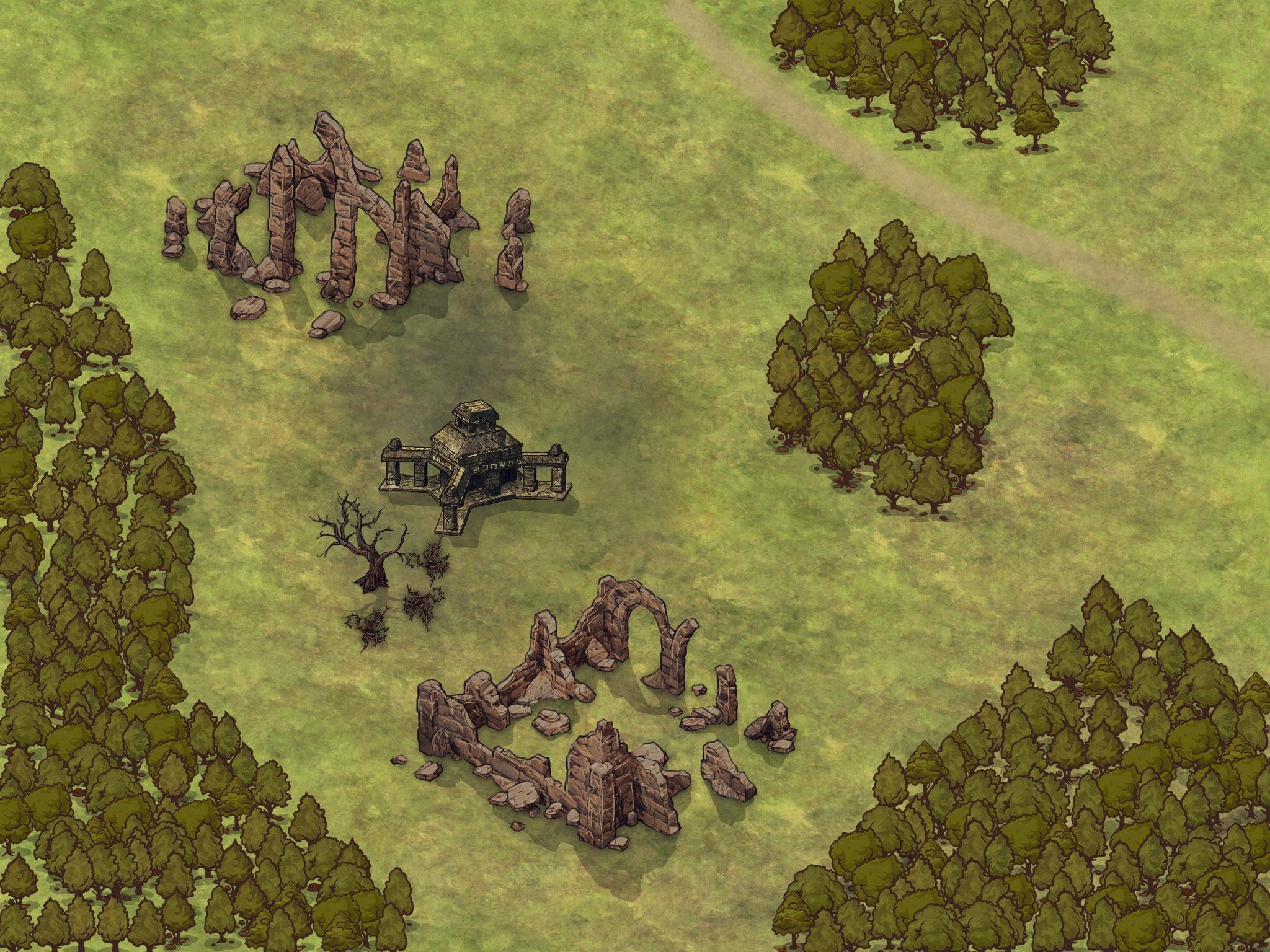 Aventura para Dungeons & Dragons - El Templo de Danara - Ruinas de Silna