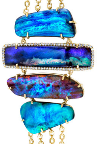 Detail: Irene Neuwirth mixed boulder opal bracelet. Via Diamonds in the Library.