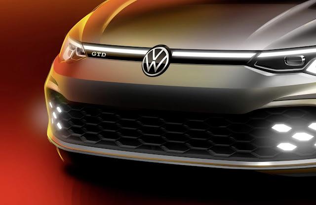Novo VW Golf GTD 2021: primeira imagem oficial divulgada