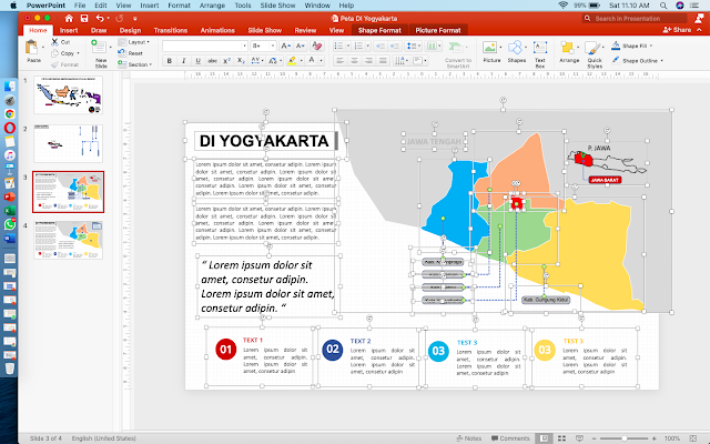 Template Peta DIY HD Powerpoint