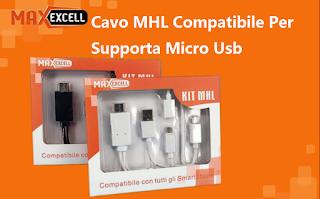 kit cavo mhl micro usb a hdmi