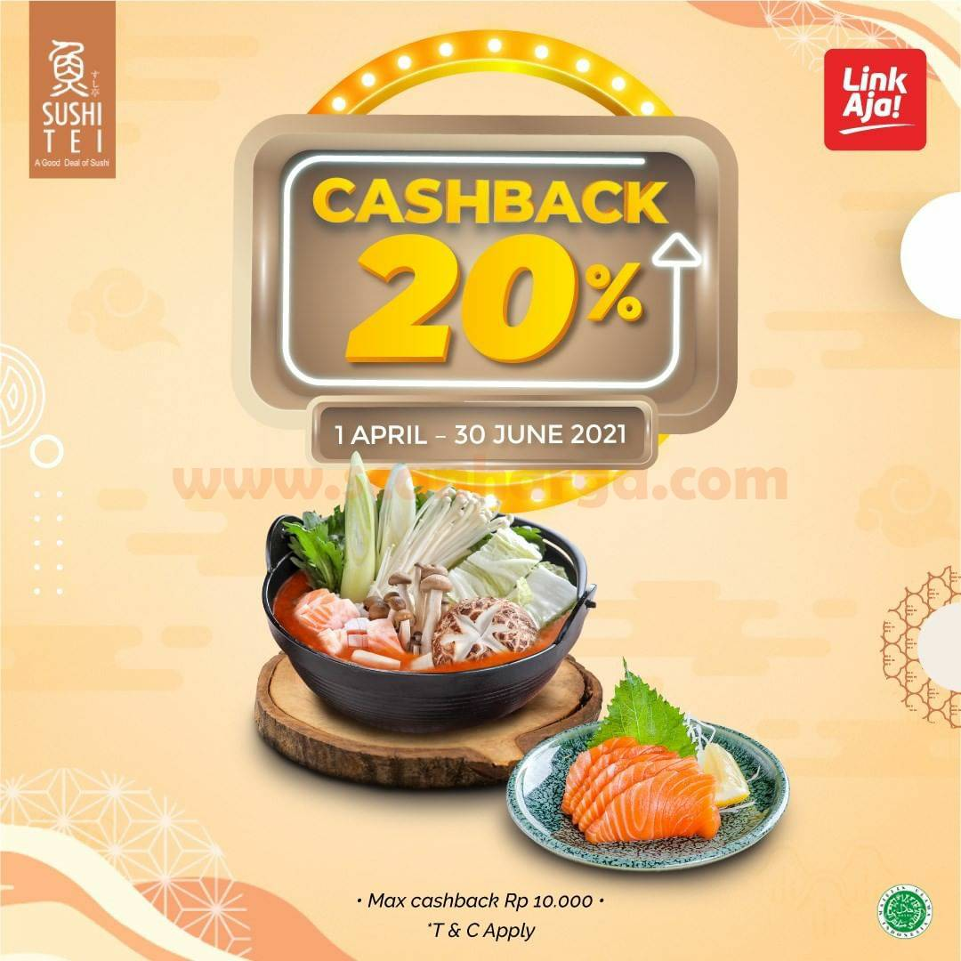 Sushi Tei Promo Cashback 20% pakai LinkAja