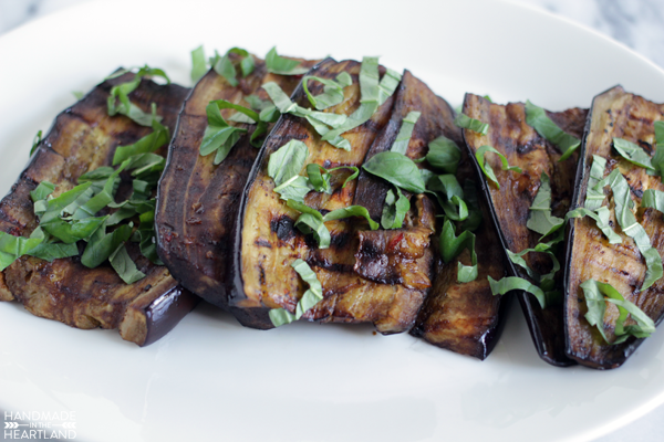 how to grill marinated eggplant