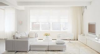 Sala blanca moderna