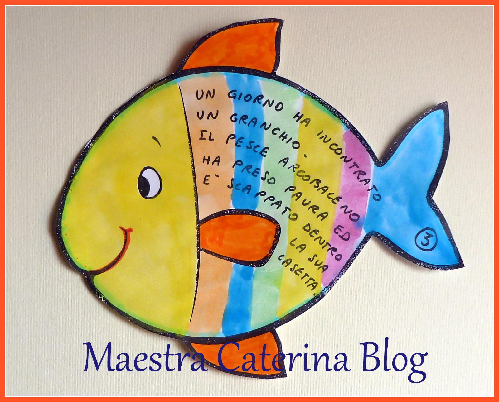 Maestra caterina il pesciolino arcobaleno for Disegni pesciolino arcobaleno