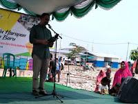 """Warga Kampung Aquarium Teriak """"2019 Ganti Presiden"""" Saat Anies Pidato"""