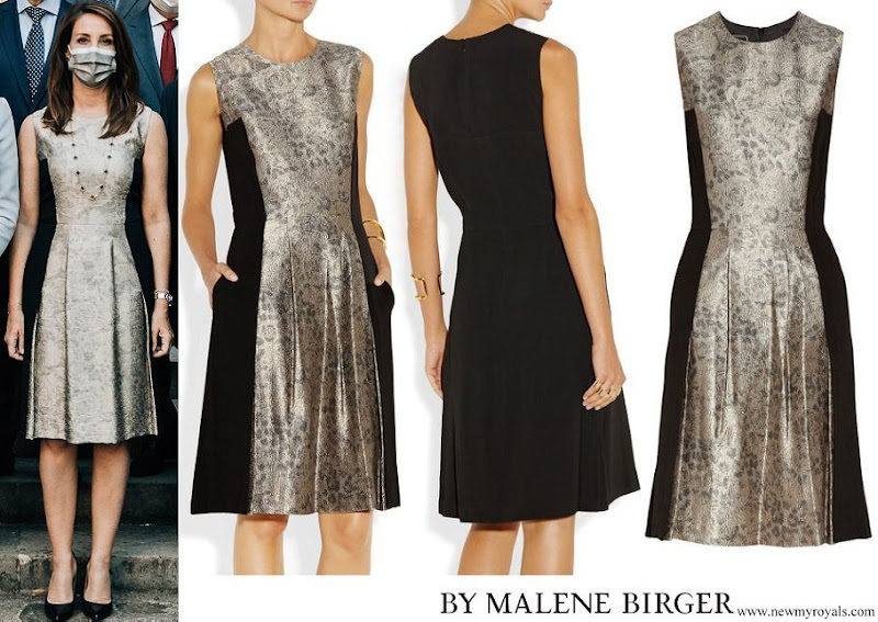 Princess Marie wore By Malene Birger Kalimi Metallic Jacquard And Stretch Woven Dress