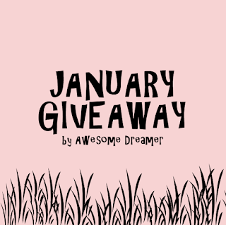January Giveaway by Awesome Dreamer, Blog, Blogger, Blogger Giveaway,