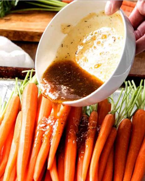 HONEY ROASTED CARROTS #roasted #vegetarian #cauliflower #breakfast #recipes