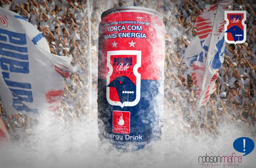 Layout de embalagem de Energético Sports Drinks Paraná Clube