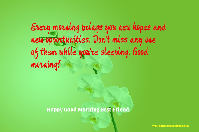 good morning my best friend