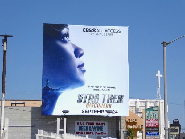 Star Trek Discovery series premiere billboard