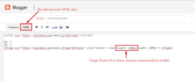 Cara Menaruh Kode HTML, Javascript, PHP, C++ dll di Blog