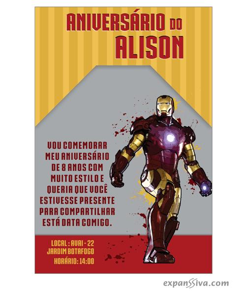 Homem de Ferro Convites