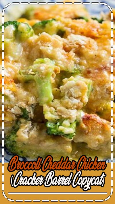 Tender and juicy white meat chicken topped with broccoli and a cheesy sauce with Ritz crackers. This Cracker Barrel copycat is easy to make and will become a family favorite.