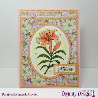 Divinity Designs Stamp Set: Miracle of Easter, Paper Collection; Spring Flowers 2019,  Custom Dies: Ovals, Scalloped Ovals, Pierced Rectangles, Scalloped Rectangles, Bitty Borders