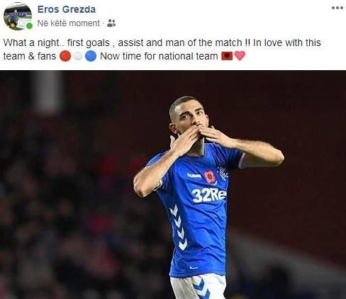 Eros Grezda 2 goals within 7 minutes in Scotland