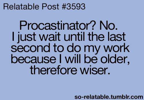about procrastination