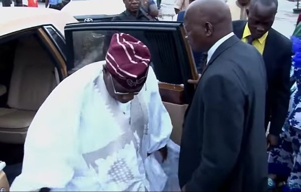 Olusegun Obasanjo Captures everyone's attention At A Companion's Birthday Celebration As He Shows up In A Gold Rolls Royce (Photographs)