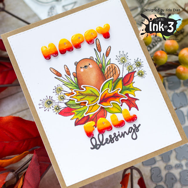 Fall Blessings for Ink On 3 by ilovedoingallthingscrafty.com
